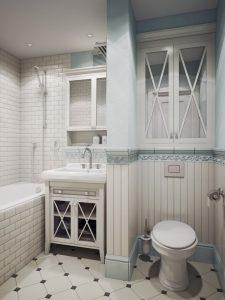 маленький туалет стиль прованс