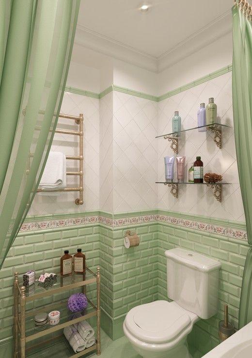 дизайн маленького туалета в стиле прованс