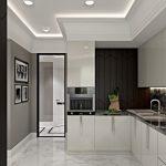 Современная отделка потолка на кухне