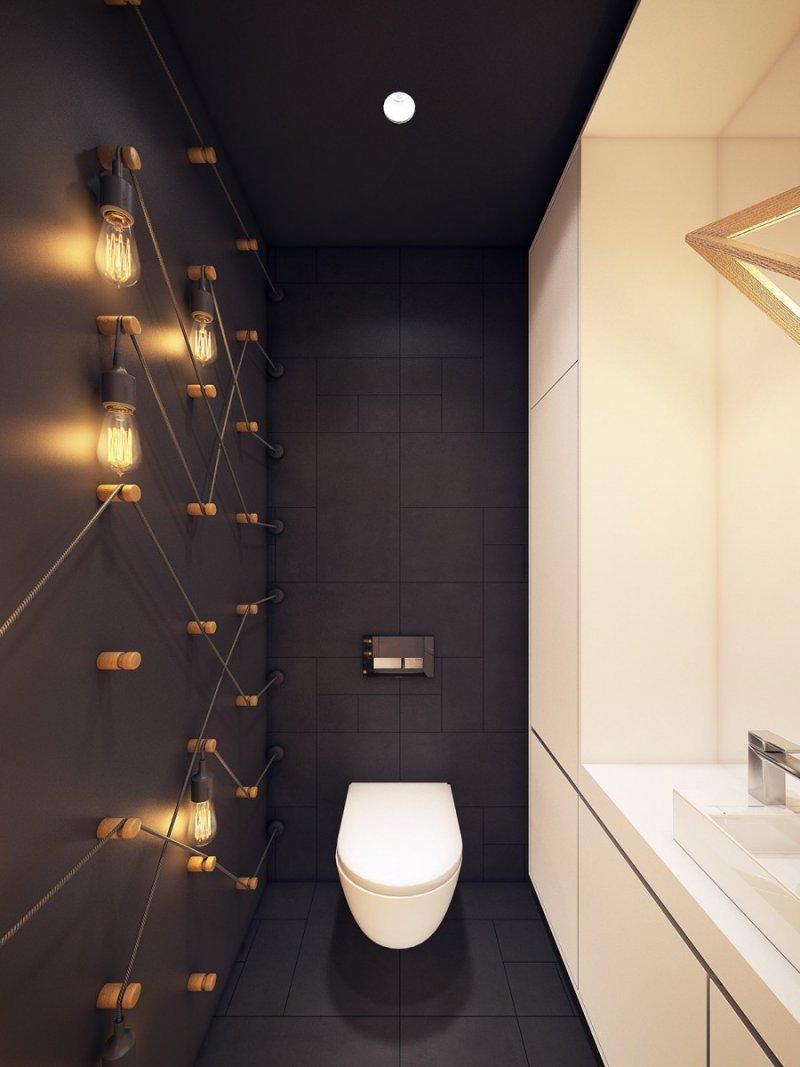свет в маленьком туалете фото