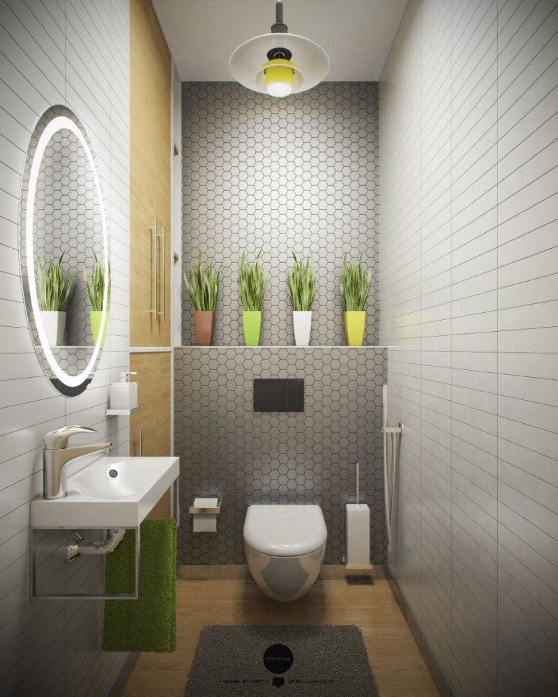 небольшой туалет свет фото