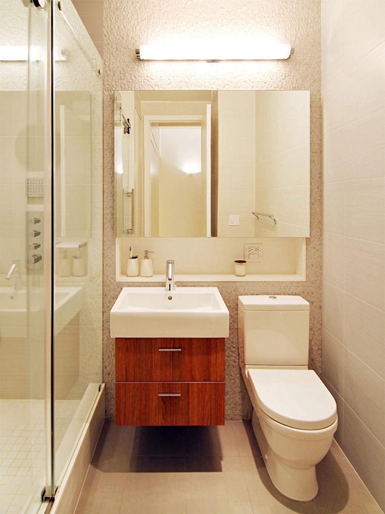 свет и декор в маленьком туалете фото