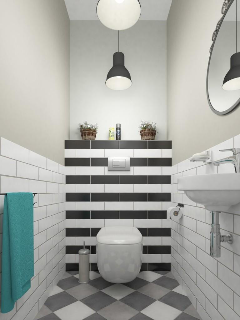 современный стиль маленький туалет