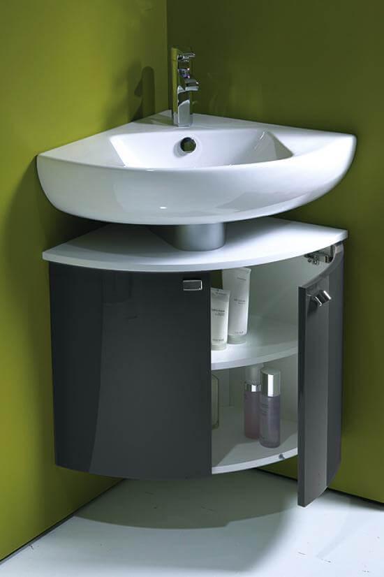 угловая раковина фото в маленьком туалете