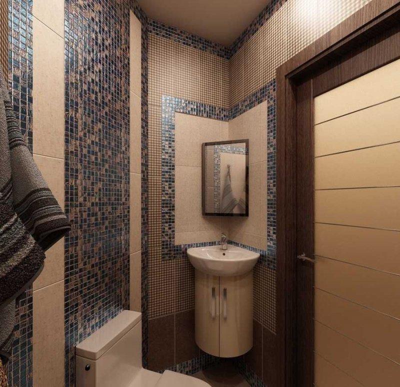 угловой комплекс для маленького туалета
