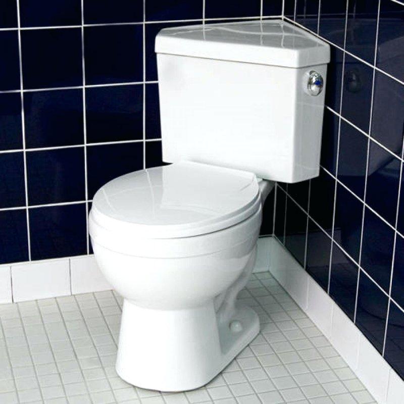 угловой унитаз для маленького туалета