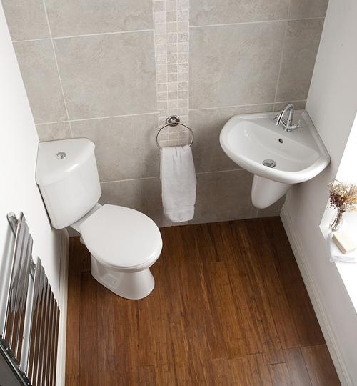 угловая раковина для маленького туалета