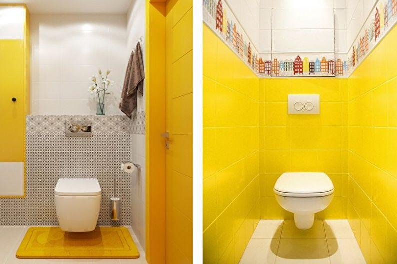 желтый маленький туалет фото