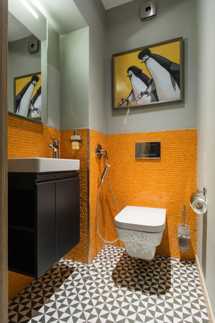 желтый маленький туалет фото дизайн