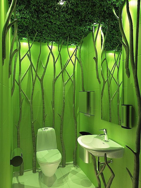 зеленый туалет малогабаритный фото