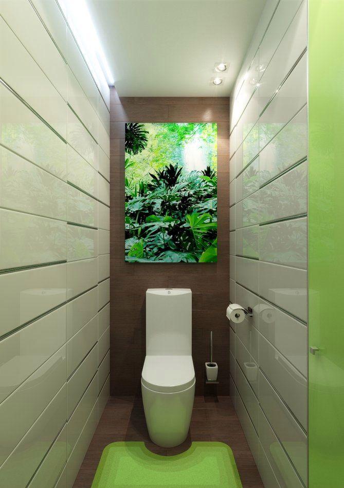 маленький туалет зеленого цвета