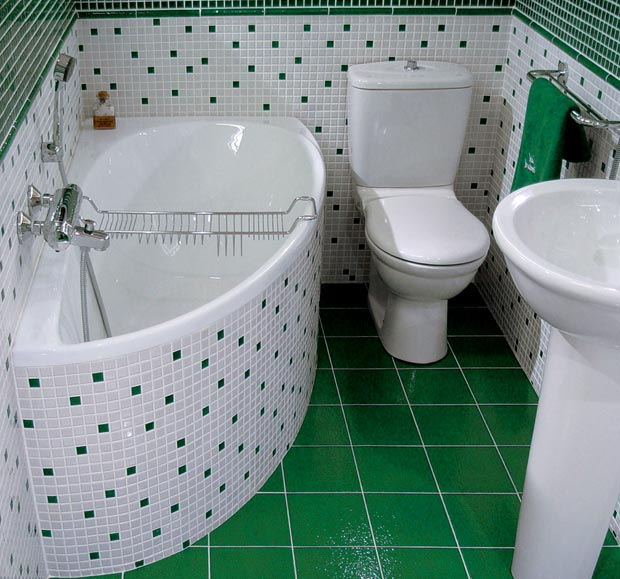 зеленый туалет дизайн