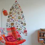 елка на стене своими руками