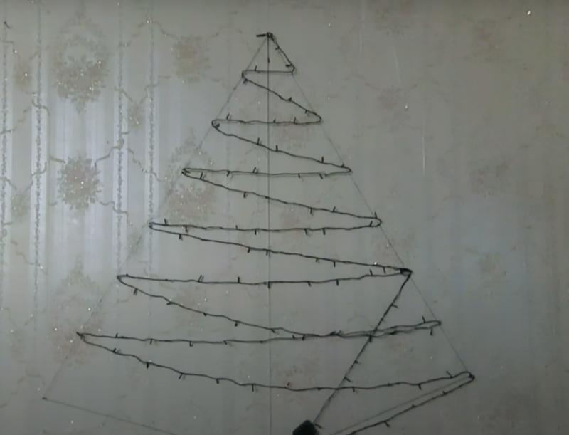 елки на стене своими руками